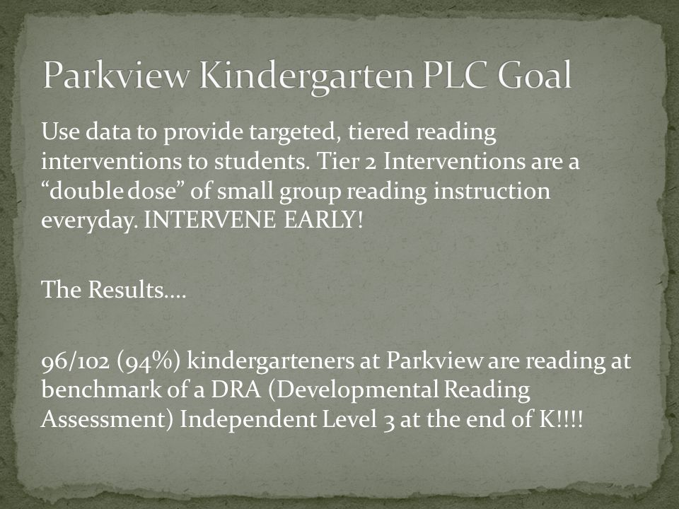 Use data to provide targeted, tiered reading interventions to students.