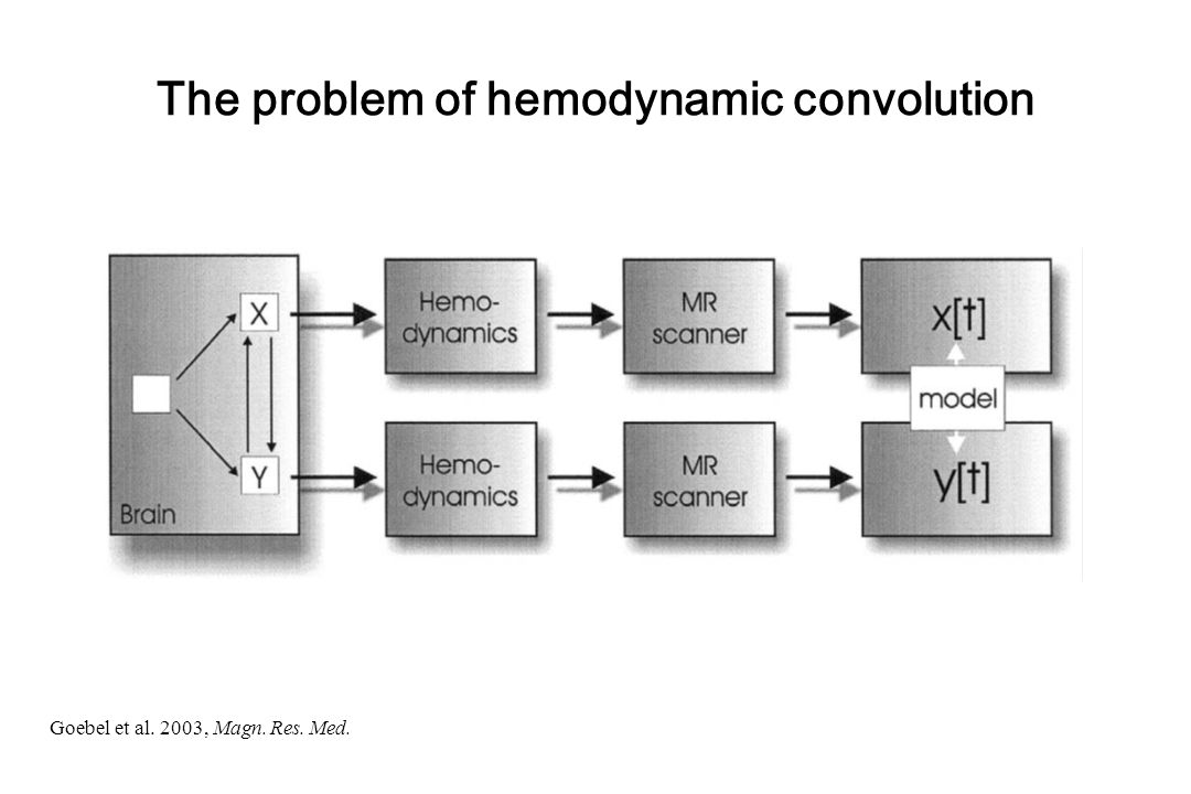 The problem of hemodynamic convolution Goebel et al. 2003, Magn. Res. Med.