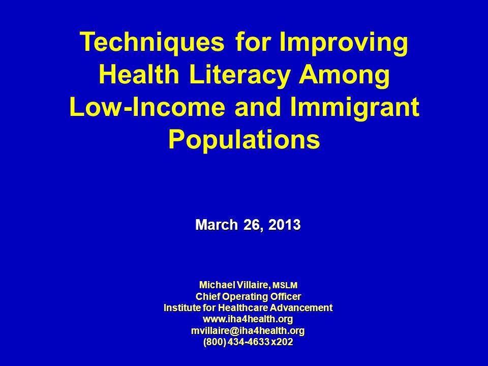 NAAL Literacy Findings Percent of U.S.