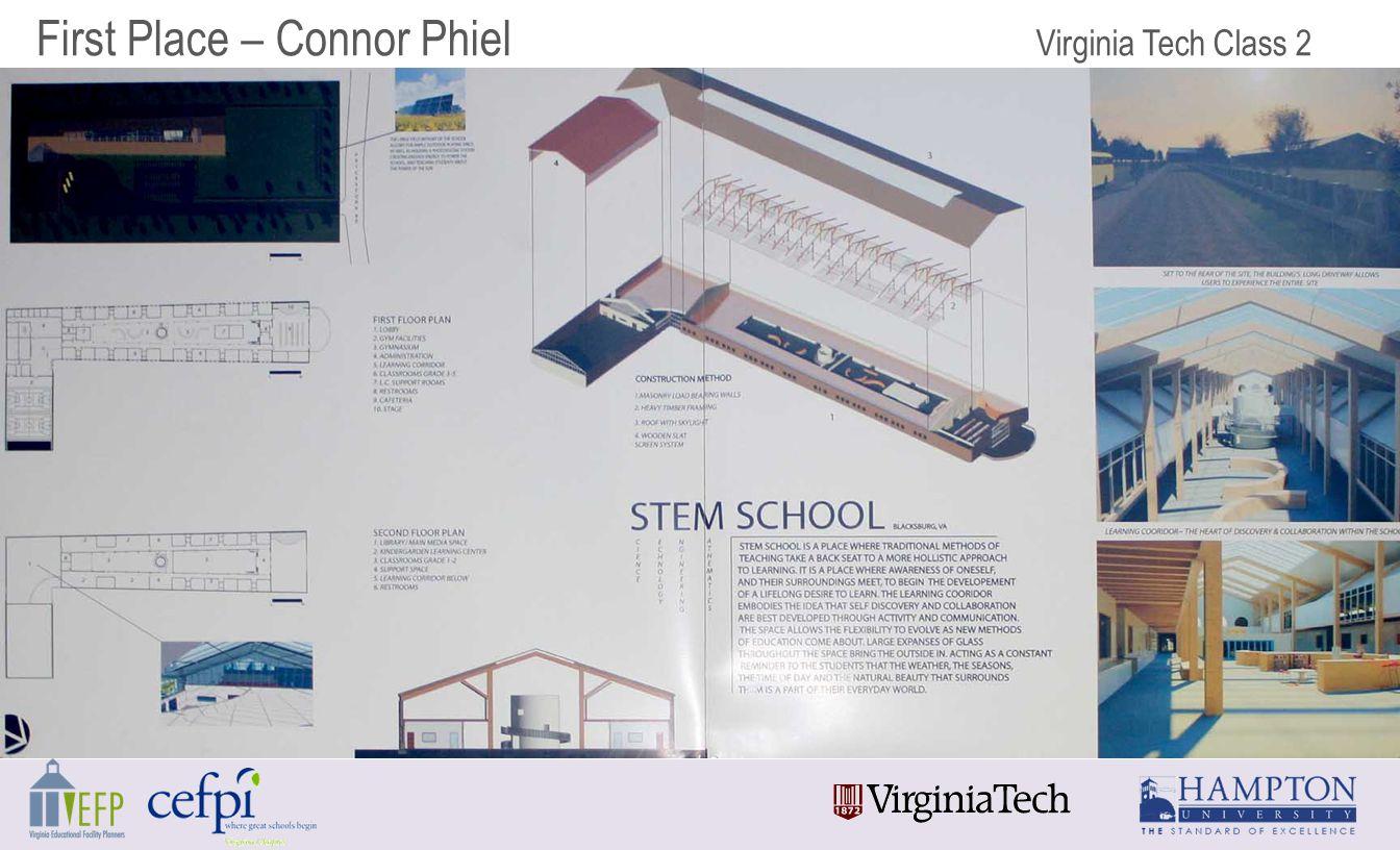 First Place – Connor Phiel Virginia Tech Class 2