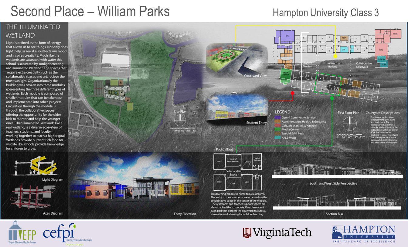 Second Place – William Parks Hampton University Class 3