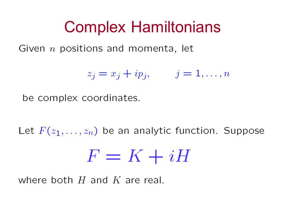 Complex Hamiltonians