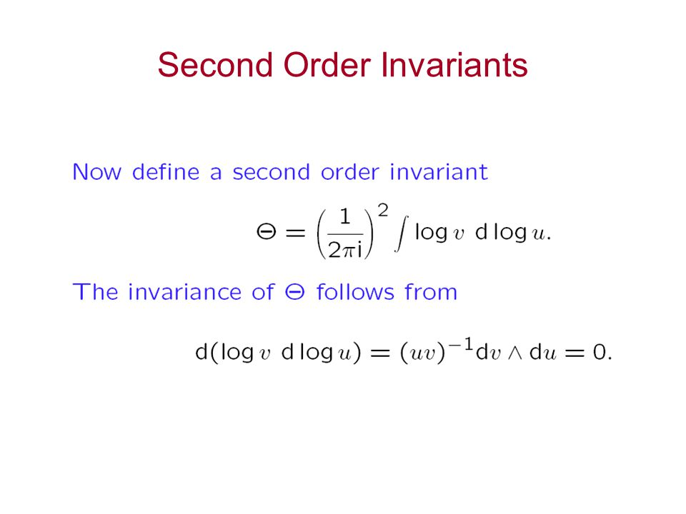 Second Order Invariants