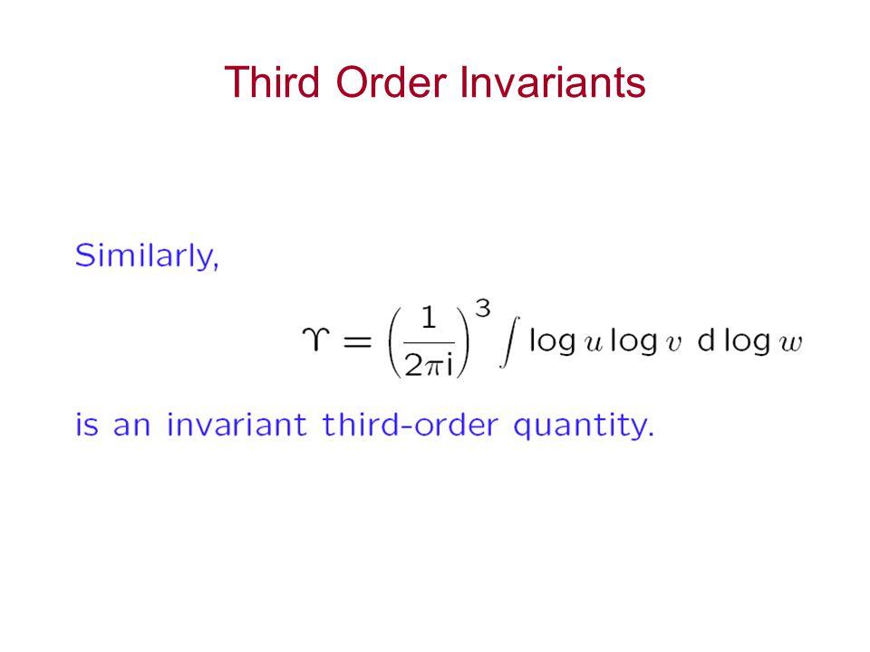 Third Order Invariants