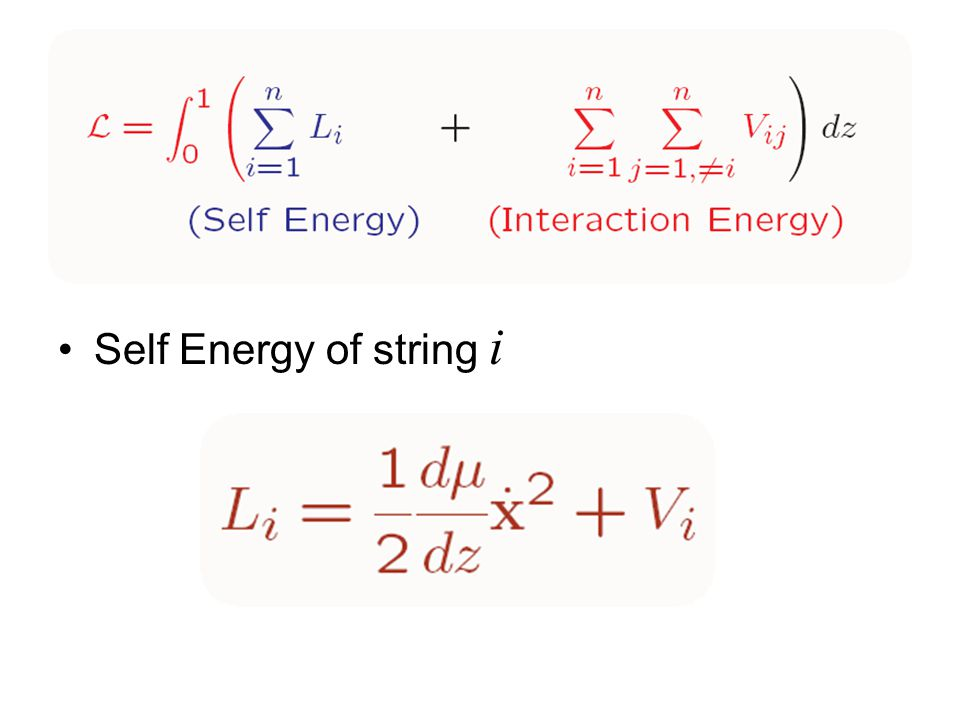 Self Energy of string i