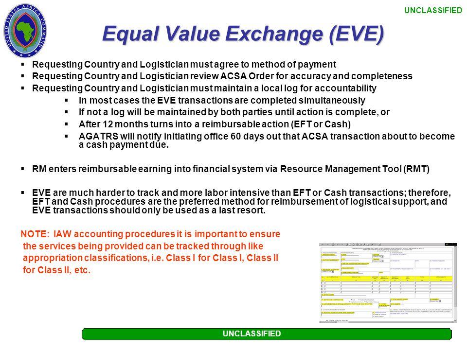 UNCLASSIFIED Cash Collection Voucher Process  Requesting Country Representative has chosen to make cash payment  Logistician prepares CCV (DD1131) R