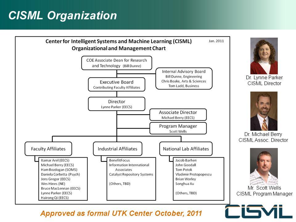 CISML Organization Dr.Lynne Parker CISML Director Dr.