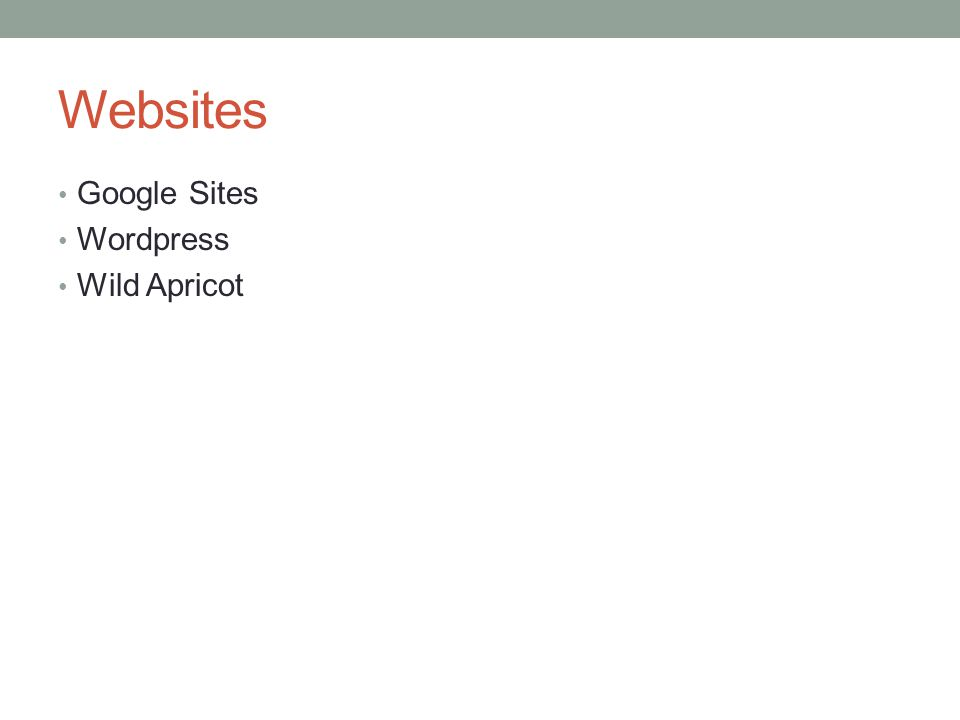 Websites Google Sites Wordpress Wild Apricot