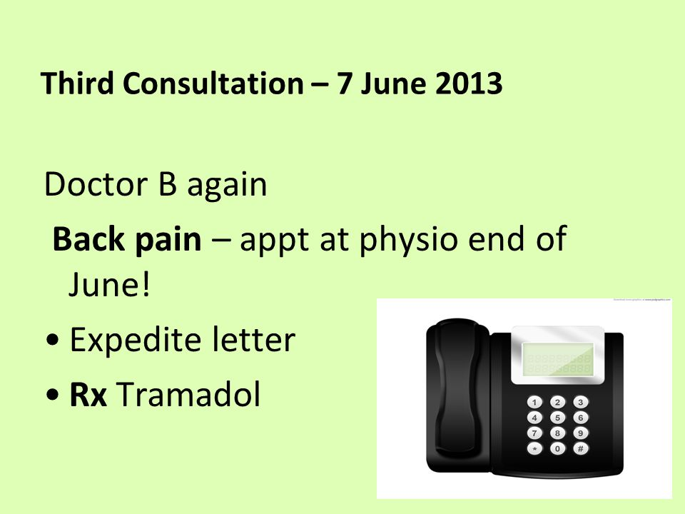 Entry in notes – 10 June 2013 Urine dipstick test – NEGATIVE. No sign of infection
