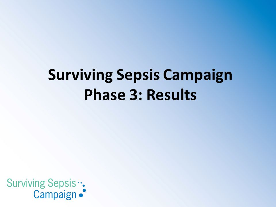 Surviving Sepsis Campaign Phase 3: Results