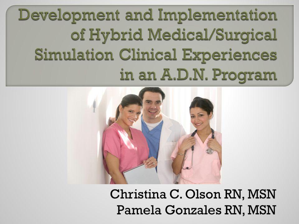 Christina C. Olson RN, MSN Pamela Gonzales RN, MSN