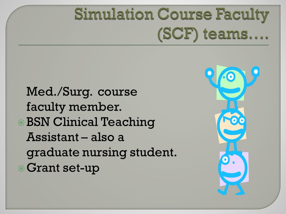 Med./Surg. course faculty member.