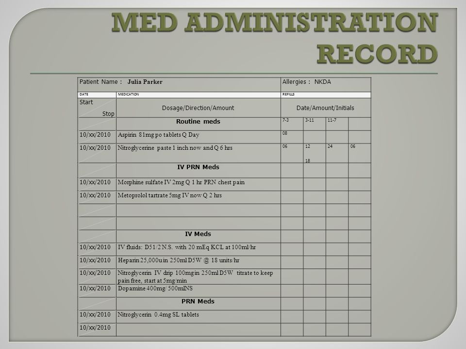 Medication Room and Medication Cart