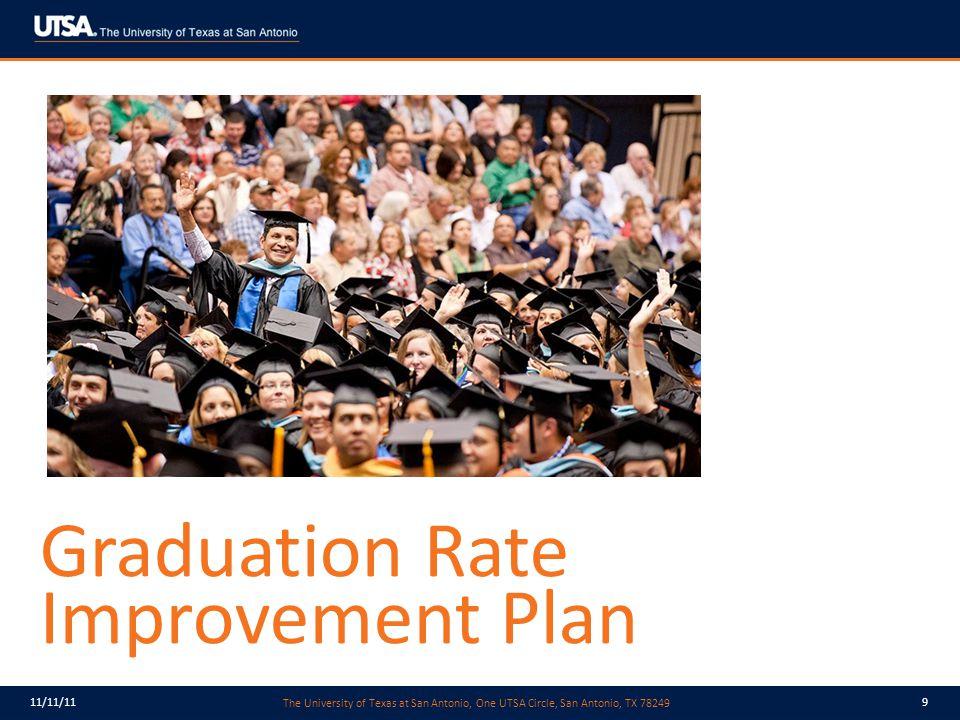 The University of Texas at San Antonio, One UTSA Circle, San Antonio, TX 78249 11/11/119 Graduation Rate Improvement Plan