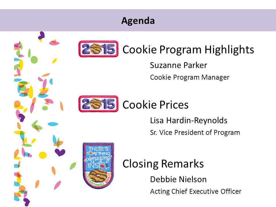 2015 Cookie Program Highlights