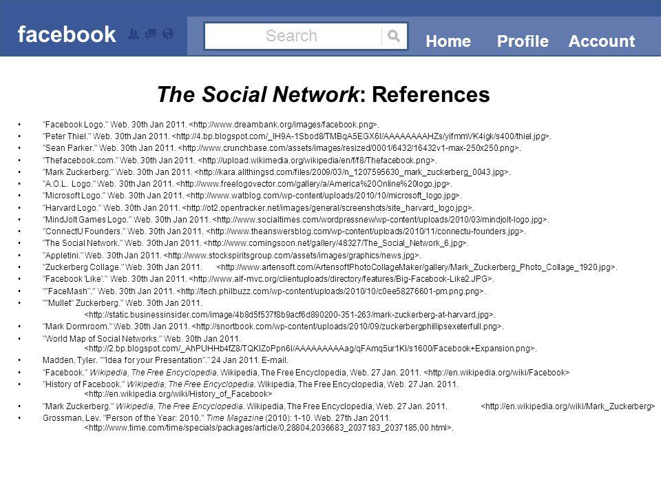Facebook Logo. Web. 30th Jan 2011.. Peter Thiel. Web.