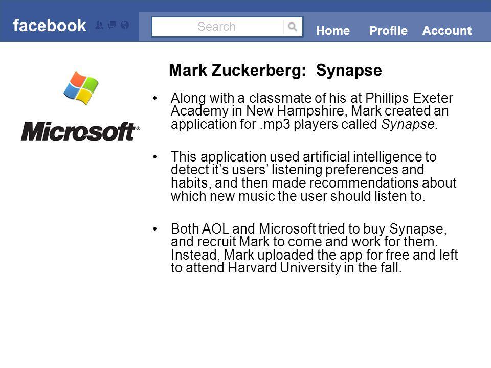 In the fall of 2002, Mark enrolled in Harvard University.