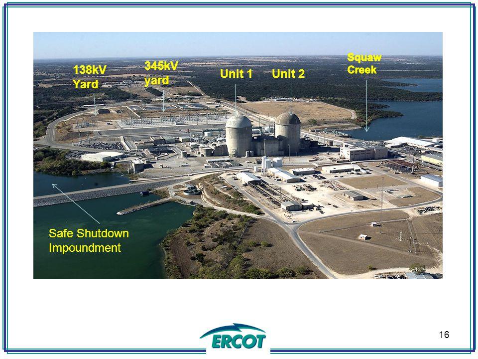 16 Unit 2Unit 1 345kV yard 138kV Yard Safe Shutdown Impoundment