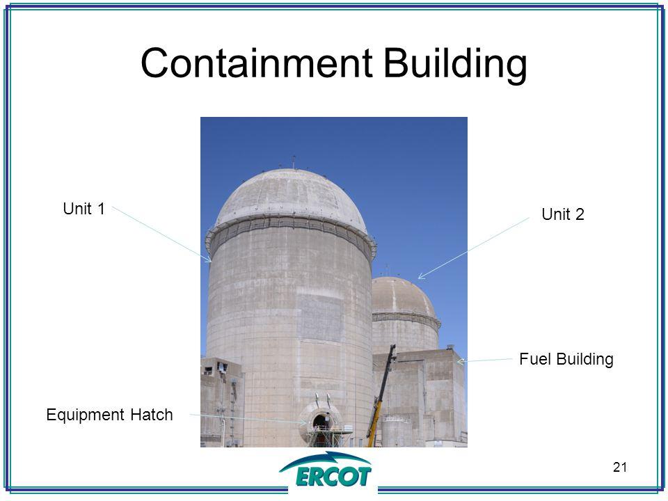 Containment Building 21 Unit 1 Unit 2 Fuel Building Equipment Hatch