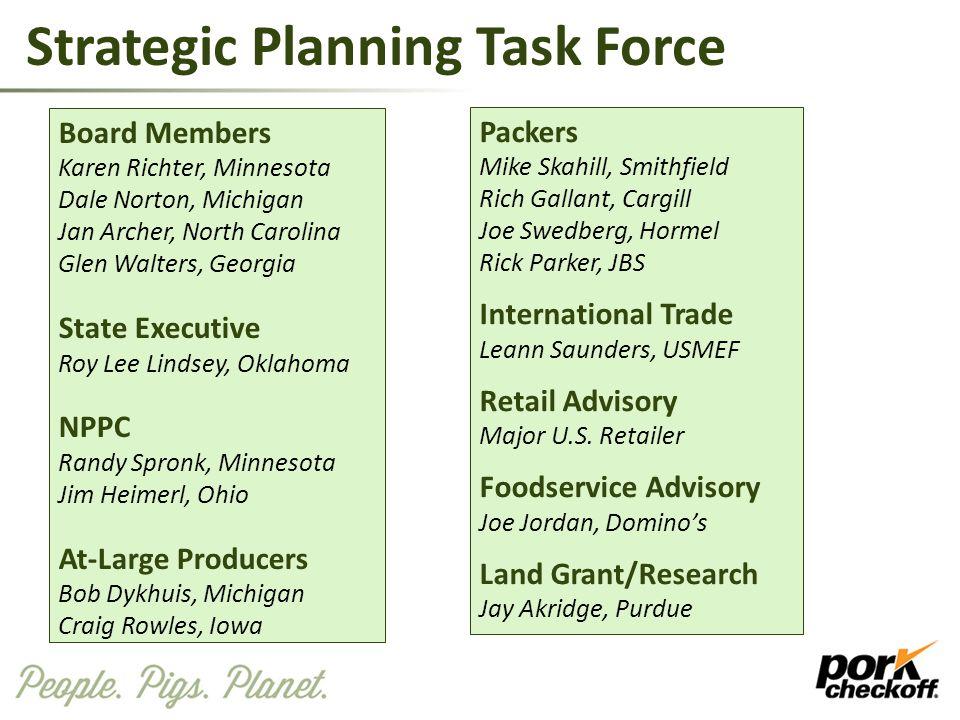 Strategic Planning Task Force Board Members Karen Richter, Minnesota Dale Norton, Michigan Jan Archer, North Carolina Glen Walters, Georgia State Exec