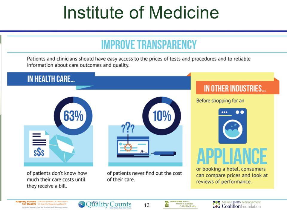 13 Institute of Medicine