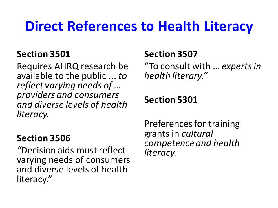 Indirect References in 6 Domains 1)Insurance Reform, Outreach and Enrollment 2)Individual Protections, Equity n Special Populations 3)Workforce Development 4)Health Information 5)Public Health, Health Promotion and Prevention & Wellness 6)Innovations in Quality and Delivery and Costs of Care