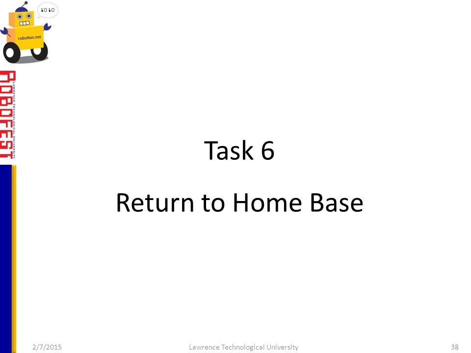 Task 6 Return to Home Base 2/7/2015Lawrence Technological University38