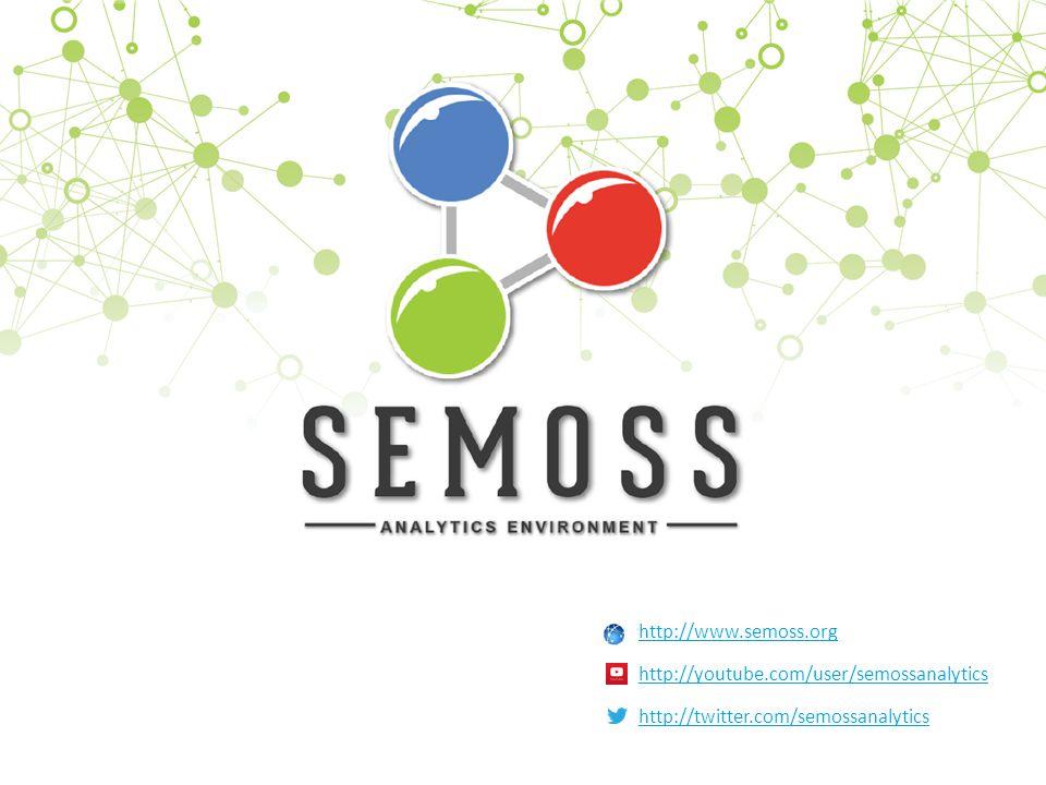 1 1 http://www.semoss.org http://youtube.com/user/semossanalytics http://twitter.com/semossanalytics