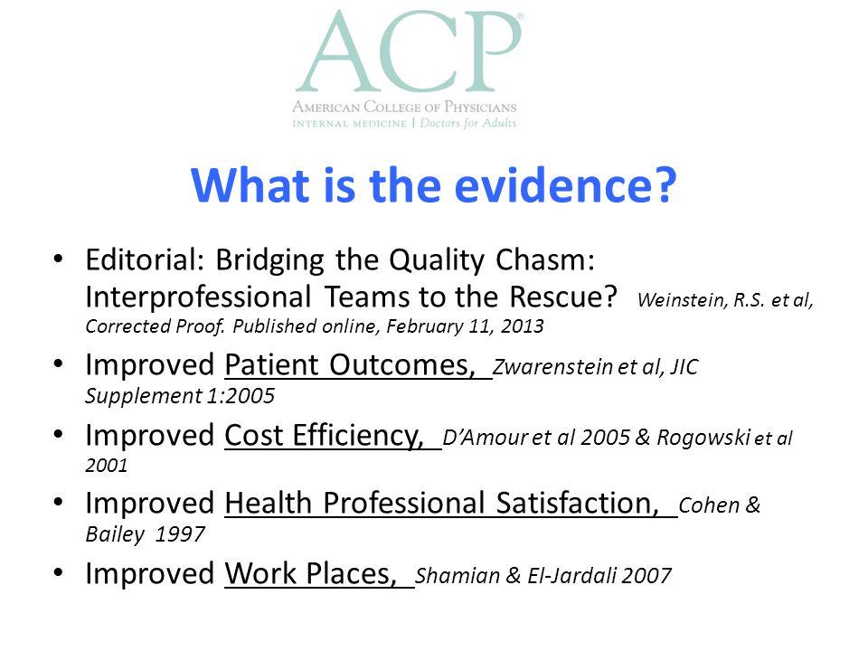 A team of experts does not make an expert team Salas et al.