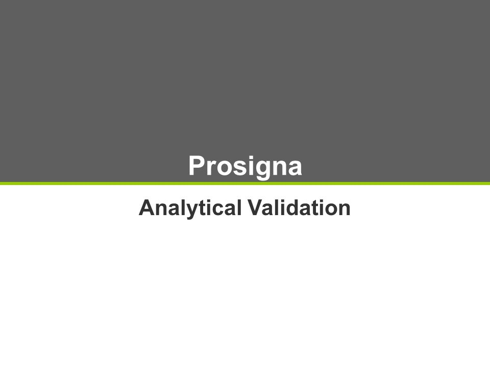 Prosigna Analytical Validation