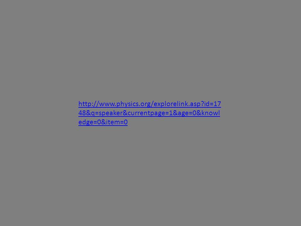 http://www.physics.org/explorelink.asp id=17 48&q=speaker&currentpage=1&age=0&knowl edge=0&item=0