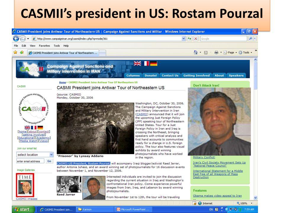 CASMII's president in US: Rostam Pourzal