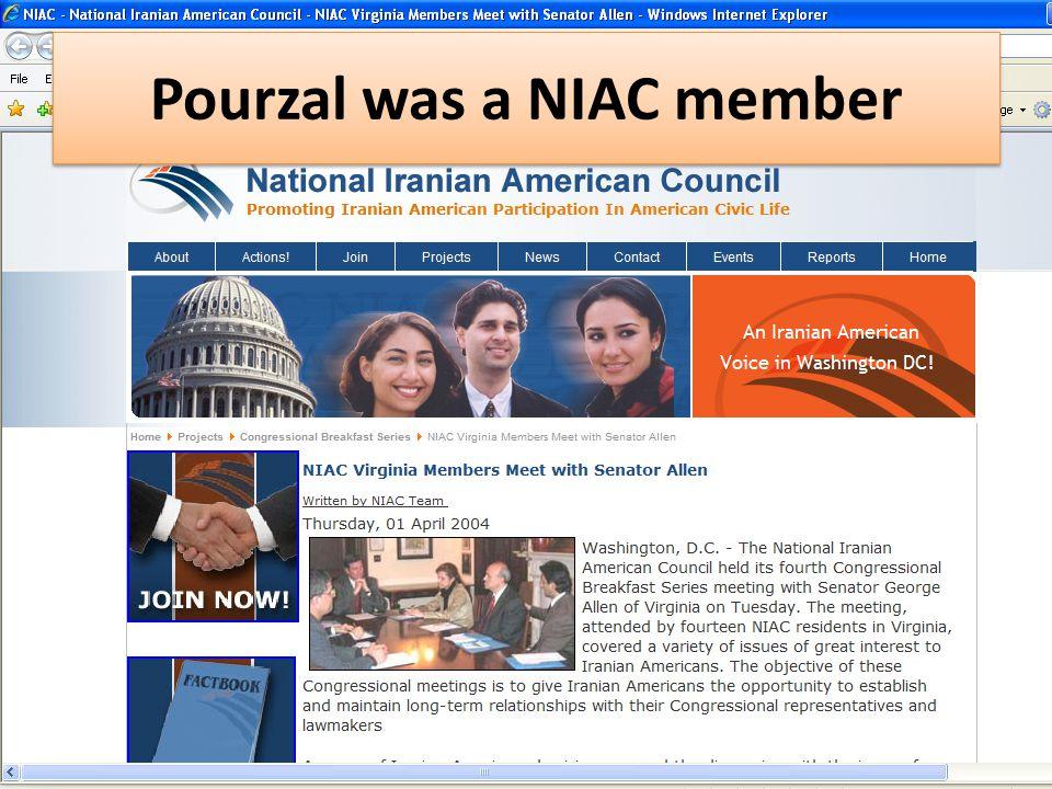 Pourzal was a NIAC member