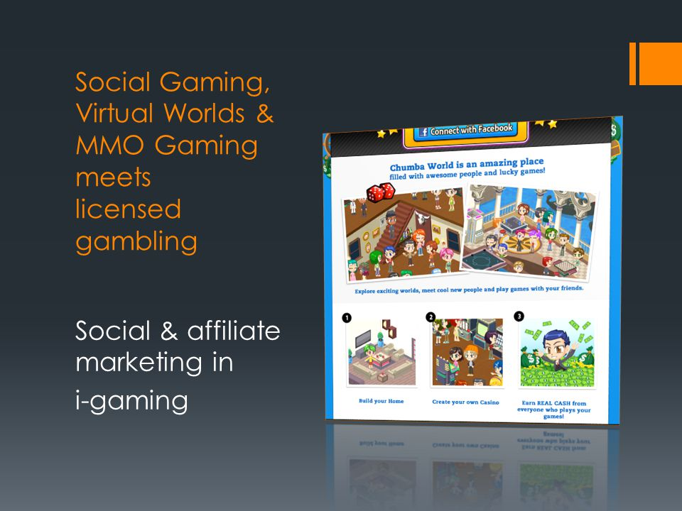 Social Gaming, Virtual Worlds & MMO Gaming meets licensed gambling Social & affiliate marketing in i-gaming