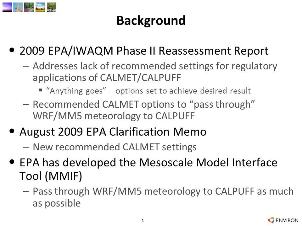 14 2006 12 km UT-CO Annual SO4 from EGU1 14 CAMx CALPUFF/MIFF CALPUFF/MET