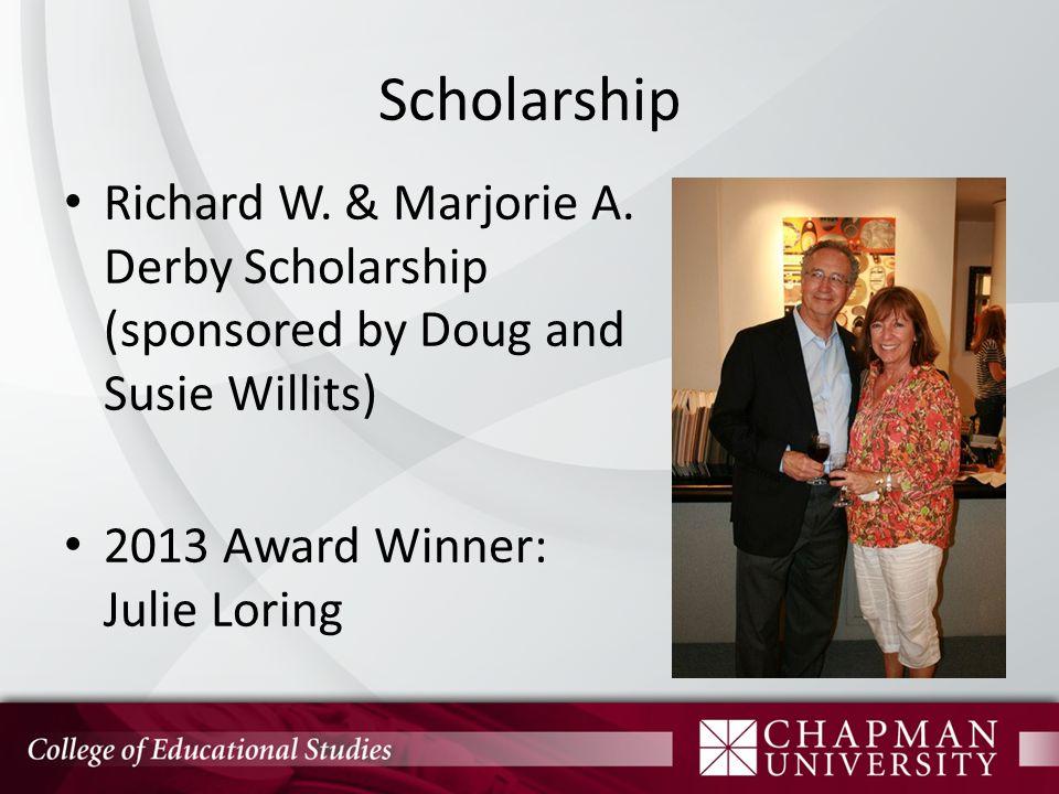Scholarship Richard W. & Marjorie A.
