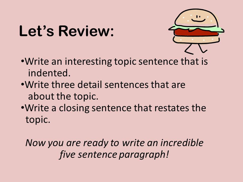 Write an interesting topic sentence that is indented.