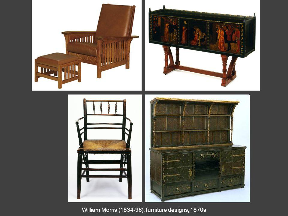 William Morris (1834-96), furniture designs, 1870s