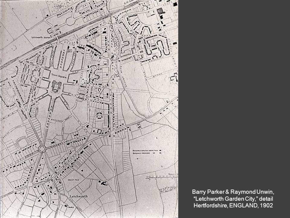 """Barry Parker & Raymond Unwin, """"Letchworth Garden City,"""" detail Hertfordshire, ENGLAND, 1902"""