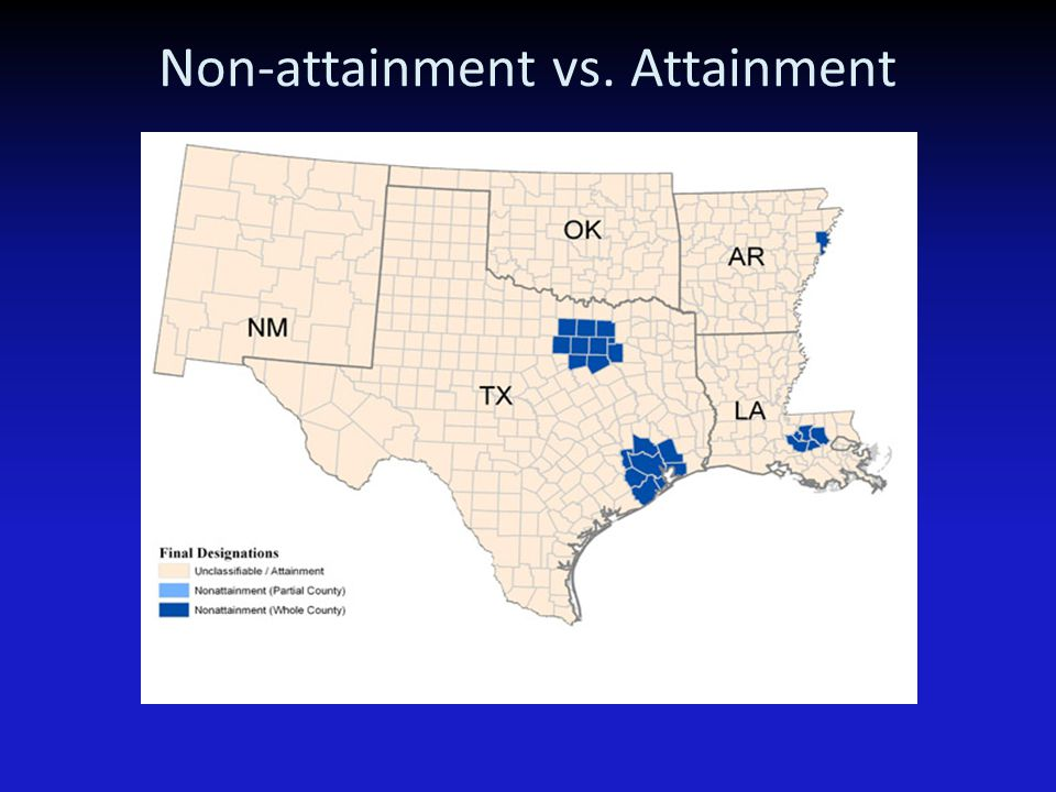 Non-attainment vs. Attainment