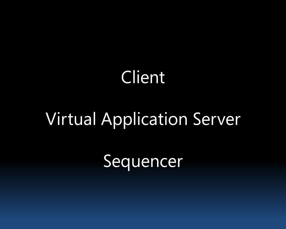 Client Virtual Application Server Sequencer
