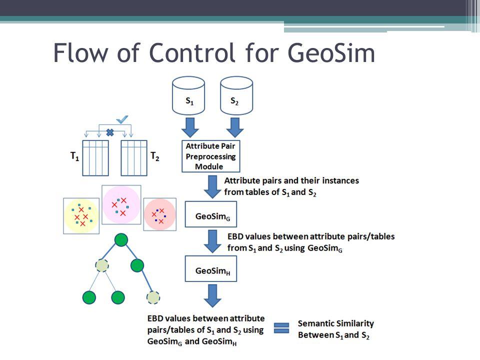 Flow of Control for GeoSim