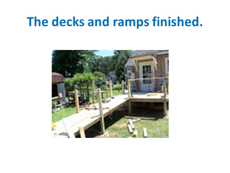 The decks and ramps finished.