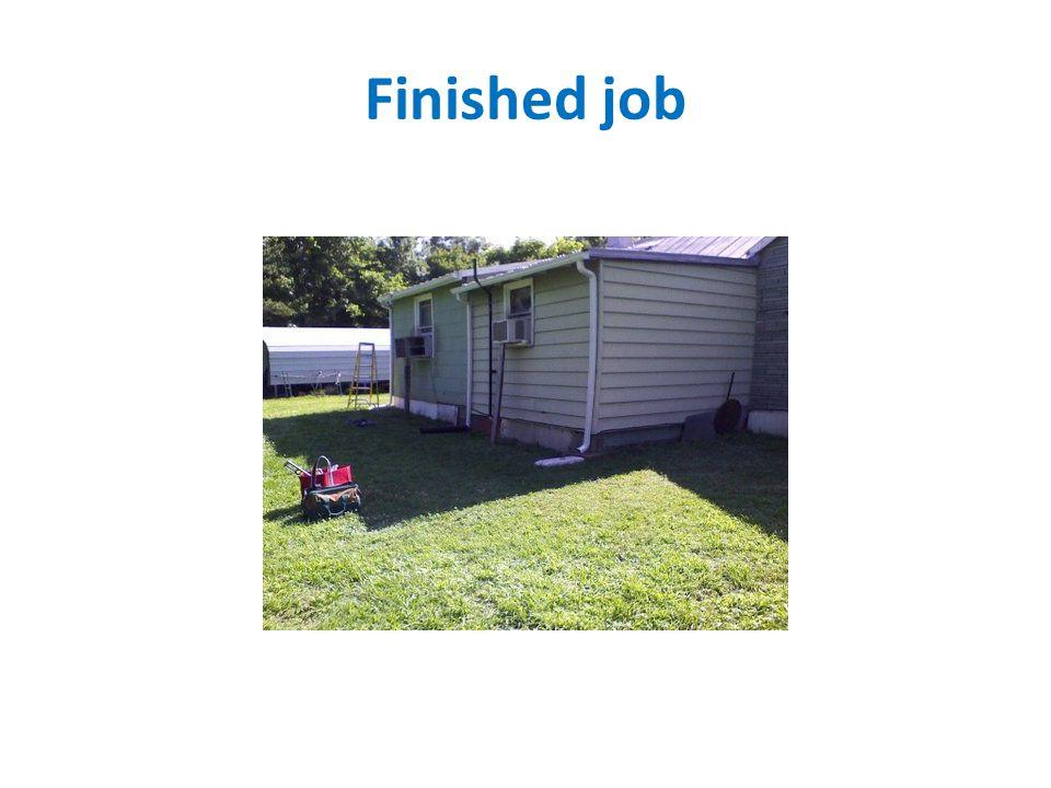Finished job