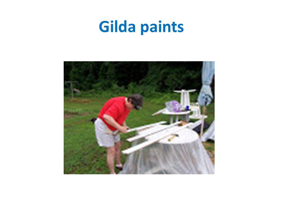 Gilda paints