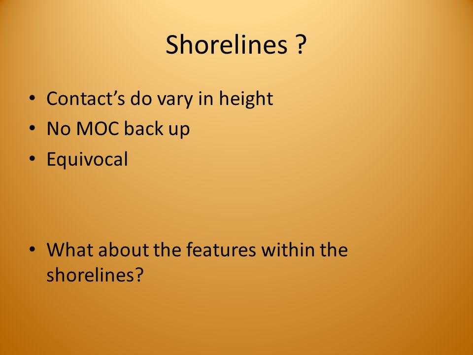 Shorelines .