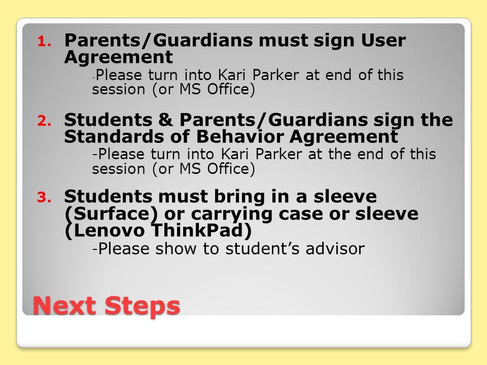 Next Steps 1.