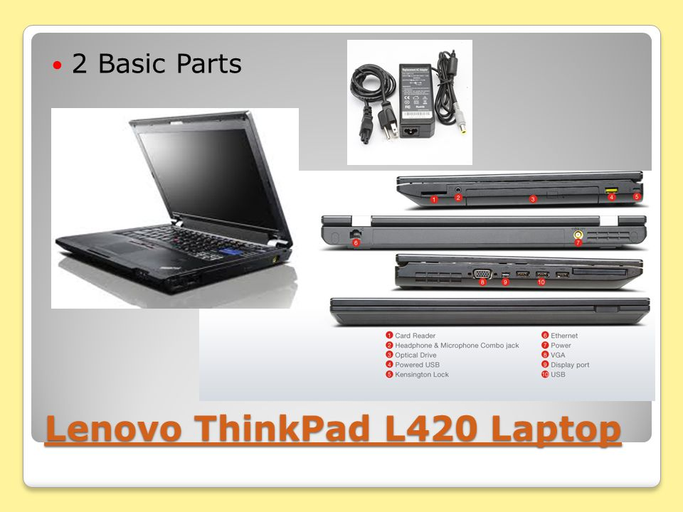 Lenovo ThinkPad L420 Laptop Lenovo ThinkPad L420 Laptop 2 Basic Parts