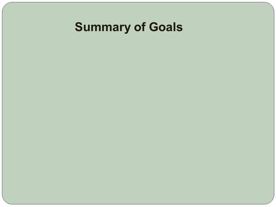 S TRATEGIC P LAN The following is a summary of the goals and certain strategies included in the December 2010 Strategic Plan that are relevant to the update of Recreational Lands & Facilities Element.