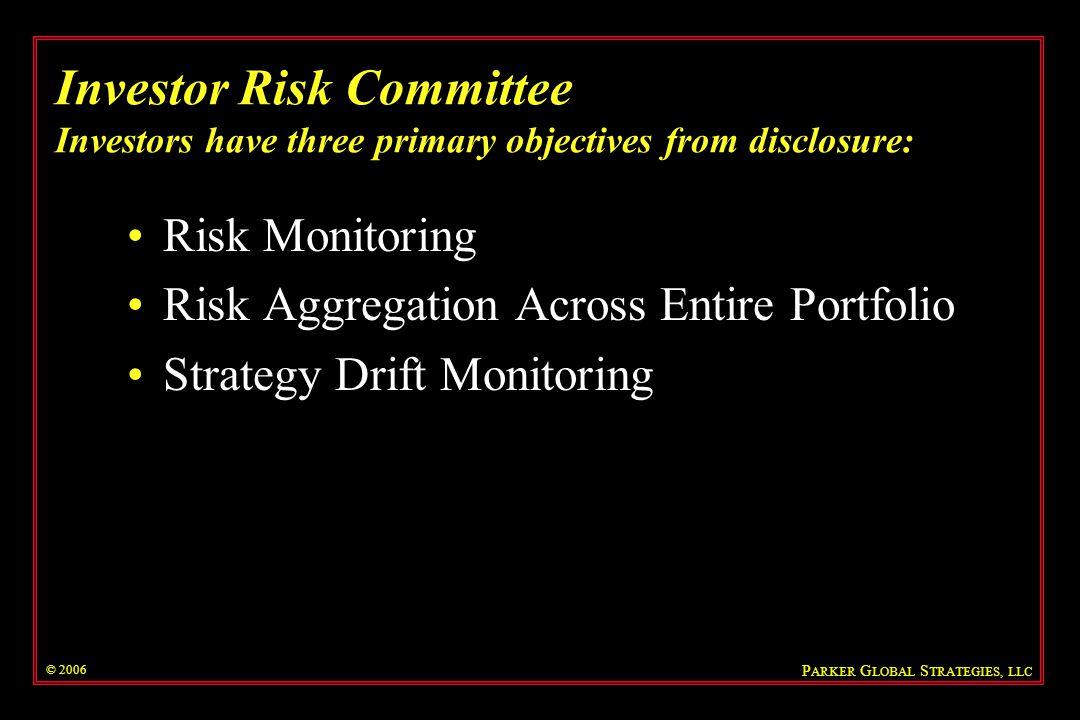 © 2006 P ARKER G LOBAL S TRATEGIES, LLC Riskdata Analysis: Event Driven Hedge Fund